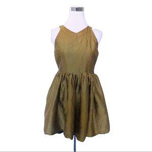 Harlyn Anthropologie Gold Metallic Dress Size M